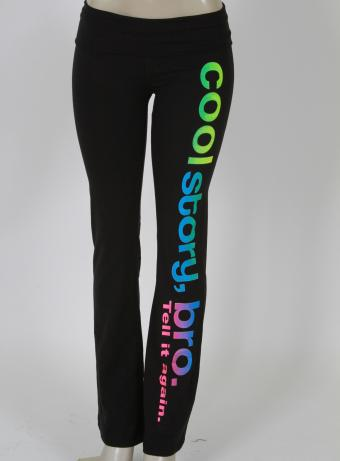 'Cool Story' Yoga Pants - Multi-Color